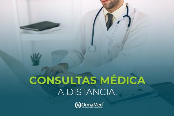 Consulta médica a distancia, la opción ideal en tiempos de pandemia.